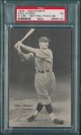 1926-29 Exhibits Paul Waner, Photo Background, PSA 1 *PC Back*