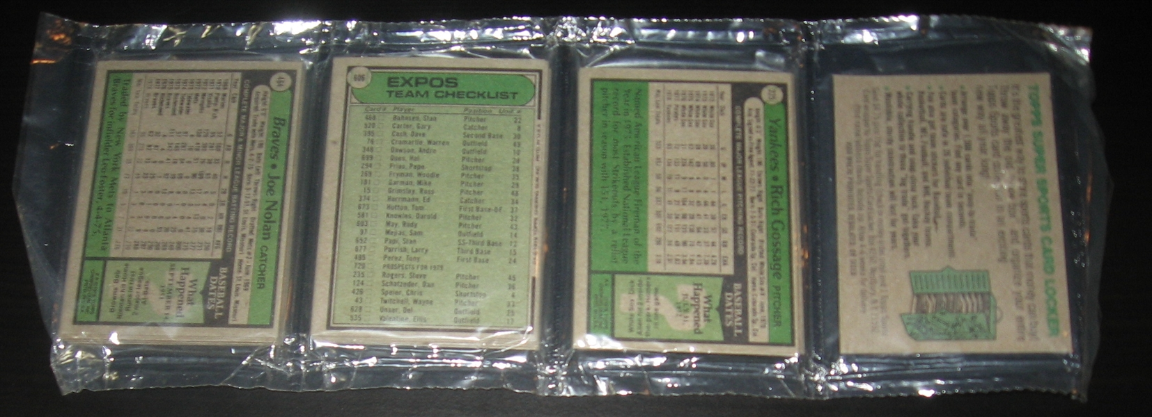 1979 Topps Unopened Rack Pack W/ Gossage, Back, & Ryan, On Front