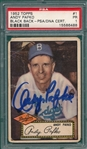 1952 Topps #1 Andy Pafko, Signed, PSA/DNA Certified