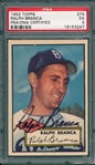 1952 Topps #274 Ralph Branca, Signed, PSA/DNA Certified