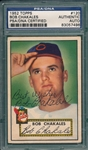 1952 Topps #120 Bob Chakales, Signed, PSA/DNA Certified