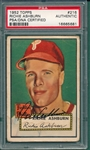 1952 Topps #216 Richie Ashburn, Signed, PSA/DNA Certified