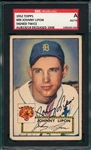 1952 Topps #89 Johnny Lipon, Signed, SGC Certified *Signed Twice*