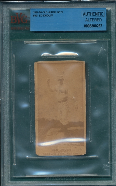 1887 N172 267-5 Fed Knouf Old Judge Cigarettes BVG Authentic