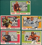 1955 Topps All American FB Lot of (5) W/ #56 Nevers