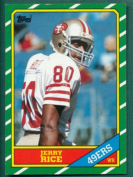 1986 Topps FB #161 Jerry Rice *Rookie*