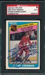 1984-85 O-Pee-Chee #385 Yzerman, Scoring Leader, SGC Authentic *Rookie* *Signed*
