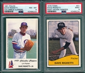 1979-85 Lot of (10) Yankees Minor League Players W/ Righetti & Mattingly