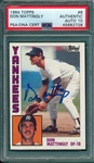 1984 Topps #8 Don Mattingly, Signed, PSA/DNA 10 *Rookie*