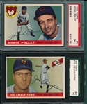 1955 Topps #76 Pollet & #144 Amalfitano, Lot of (2), PSA & SGC 7