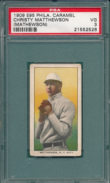 1909 E95 Christy Mathewson Philadelphia Caramel PSA 3