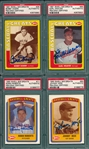1990/91 Swell Lot of (4) HOFers, Signed, W/ Roberts, PSA Authentic