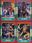 1986 Fleer Basketball Partial Set (130/132) Plus Stickers (11/12)