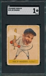 1938 Goudey Heads Up #250 Joe DiMaggio SGC 1