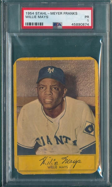 1954 Stahl-Meyer Franks Willie Mays PSA 1