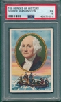 1911 T68 Heroes Of History George Washington PSA 5