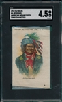 1910 S67 Silks Indian Chiefs #6 Geronimo Tokio Cigarettes SGC 4.5