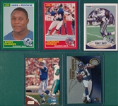 1989-2001 Lot of (5) Football Rookies W/ 89 Score Sanders