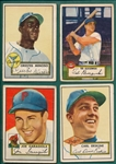 1952 Topps Lot of (4) W/ #195 Minoso